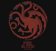 Targaryen Fire and Blood Red Dragon by neutrone
