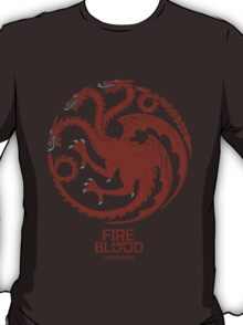 Targaryen Fire and Blood Red Dragon T-Shirt