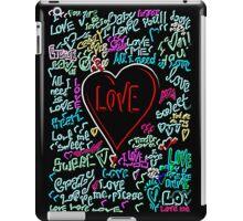neon love iPad Case/Skin