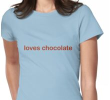 Loves Chocolate - CoolGirlTeez Womens Fitted T-Shirt