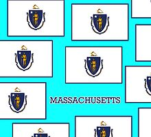 Smartphone Case - State Flag of Massachusetts - Horizontal V by Mark Podger