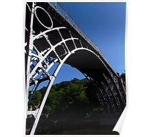 Deep Blue Sky Above Ironbridge Poster