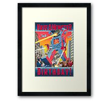 Have a Monster Birthday! card Framed Print
