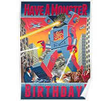 Have a Monster Birthday! card Poster