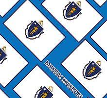 Smartphone Case - State Flag of Massachusetts - Diagonal III by Mark Podger