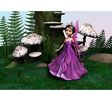 Fairy in Woodland Photographic Print