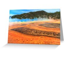 Grand Prismatic shores of steaming color Greeting Card