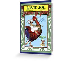 Lovie Joe Girl on Rooster Greeting Card