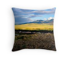 Darkness Covers the Valley Throw Pillow
