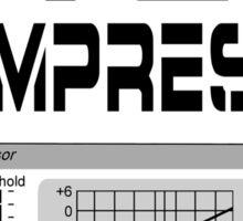 Do you even compress? (Black Text) Sticker