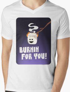 Burnin For You Mens V-Neck T-Shirt
