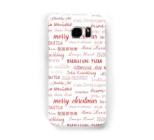 Christmas around the world Samsung Galaxy Case/Skin