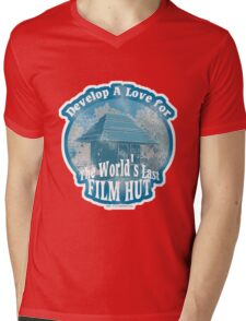 The Last Film Hut Mens V-Neck T-Shirt