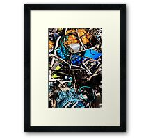Arrives On A Wave - Seaside Abstract Framed Print