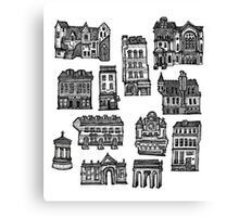 Little Edinburgh (TILED PATTERN) Canvas Print