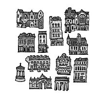 Little Edinburgh (TILED PATTERN) Photographic Print