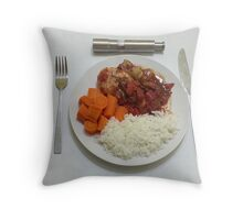 Chicken Breasts In Balsamic And Tomatoes Throw Pillow
