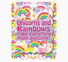 Rainbows and Unicorns Slogan Unisex T-Shirt