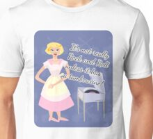 Snarky Fifties Rocking Housewife Unisex T-Shirt
