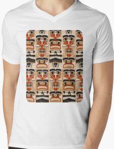 Epic Totem Pole Design  Mens V-Neck T-Shirt