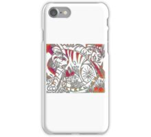 Tiger in Red After Franz Marc iPhone Case/Skin