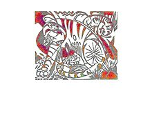 Tiger in Red After Franz Marc Photographic Print