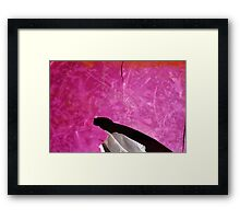 Something Pink - Seaside Abstract Framed Print
