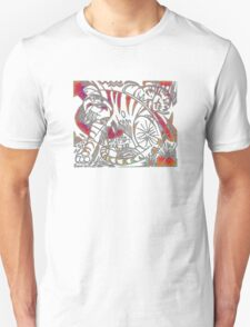 Tiger in Red After Franz Marc Unisex T-Shirt
