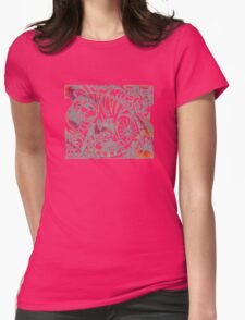 Tiger in Red After Franz Marc Womens Fitted T-Shirt