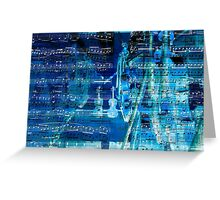 Violins and music notes Greeting Card