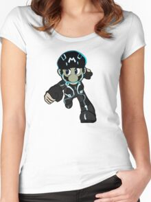 Mario Tron 2 Women's Fitted Scoop T-Shirt