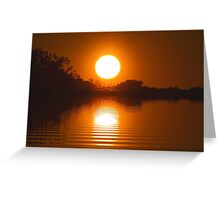 oh no, not another Sunset. Greeting Card