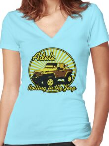 Adele - Rolling In The Jeep Women's Fitted V-Neck T-Shirt