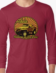 Adele - Rolling In The Jeep Long Sleeve T-Shirt