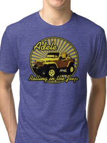 Adele - Rolling In The Jeep Tri-blend T-Shirt