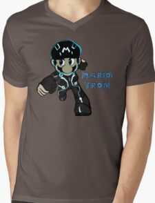 Mario Tron 1 Mens V-Neck T-Shirt