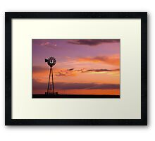 Windmill on the Plains Framed Print