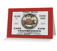 Thanksgiving Turkey Crate Label Greeting Card