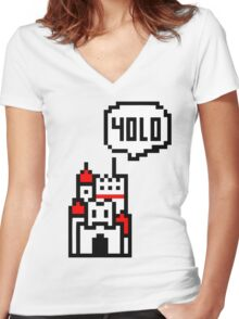 YOLO Princess Women's Fitted V-Neck T-Shirt