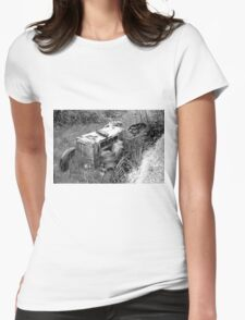 Out to pasture (sketch) Womens Fitted T-Shirt