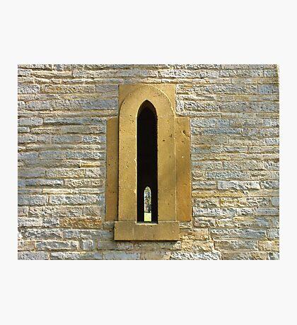 Lancet windows, Leicester Tower, Evesham, UK Photographic Print