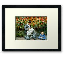 Madame Monet 3-D Redux Framed Print