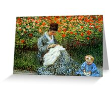 Madame Monet 3-D Redux Greeting Card