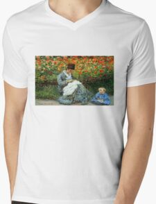 Madame Monet 3-D Redux Mens V-Neck T-Shirt