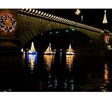Christmas Sail Boats Photographic Print