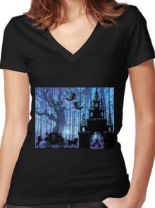 Wish upon a star Women's Fitted V-Neck T-Shirt