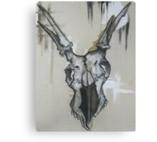 Basic Instinct Is The Key To Survival-Deer Skull Canvas Print
