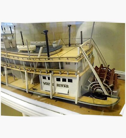 Paddle Wheeler Model Poster