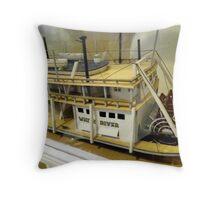 Paddle Wheeler Model Throw Pillow