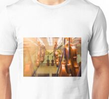 The museum of violins in Milan, Italy Unisex T-Shirt